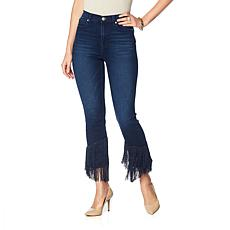 DG2 by Diane Gilman Virtual Stretch Fringe-Hem Jean - Basic
