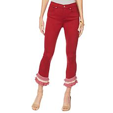 DG2 by Diane Gilman Virtual Stretch Layered Crop Jean - Fashion