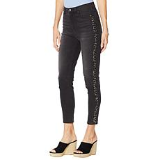 0cfe81703b9 DG2 by Diane Gilman Virtual Stretch Studded Skinny Ankle Jean - Basic