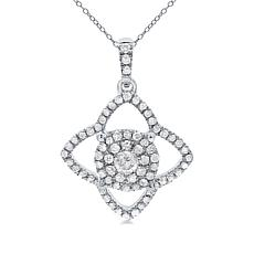 Diamond Couture 14K 0.3ctw Diamond Star Halo Pendant