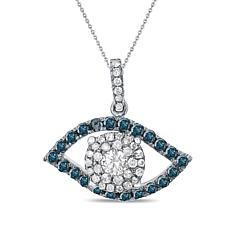 "Diamond Couture 14K 0.5ctw Diamond ""Eye"" Pendant"