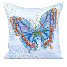 Diamond Dotz Diamond Embroidery Pillow Facet Art Kit - Blue Flutter