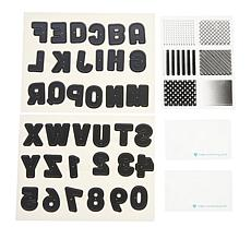 Diamond Press Block Letter Alphabet Stamp, Die and Folder Bundle