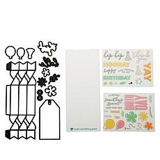 Diamond Press Celebration Cracker and Gift Tag Stamp & Die Set
