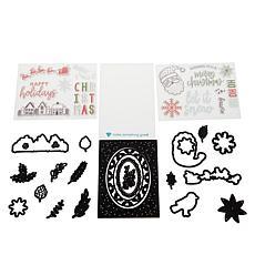 Diamond Press Christmas Stamp and Die Set