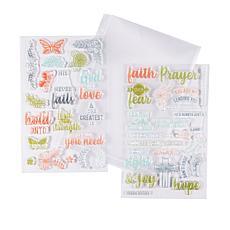 Diamond Press Faith, Hope and Love Stamp Kit