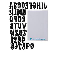 Diamond Press Halloween Alphabet Die Set