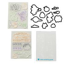 Diamond Press Halloween Stamp and Die Set