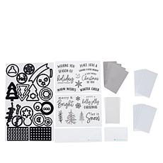 Diamond Press Holiday Shaker Stamp and Die Kit