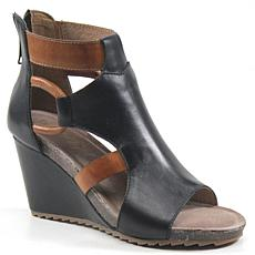Diba True Night Out Leather Wedge Sandal