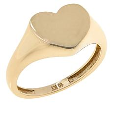 Dieci 10K Electroform Polished Heart Ring