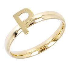 Dieci 10K Gold Initial Ring