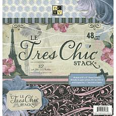 "Diecuts with a View Le Tres Chic 12"" x 12"" Paper Stack"