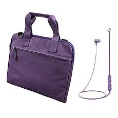 "Digital Basics 13"" Portfolio Sleeve with Bluetooth Earbuds"