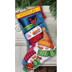 "Dimensions ""Freezin' Season"" Stocking Needlepoint Kit"