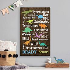 Dino-Name Colorful Dinosaurs Personalized 10x16 Canvas
