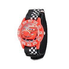 Disney Cars Kid's Black Nylon Strap Time-Teacher Watch