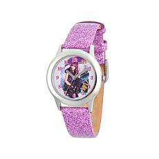 "Disney Descendants ""Mal"" Kid's Purple Glitter Strap Watch"