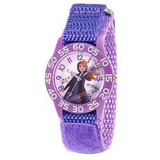 Disney Frozen 2 Anna Kids' Purple Watch with Purple Nylon Strap