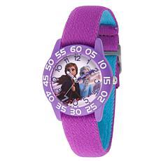 Disney Frozen 2 Elsa and Anna Kids' Purple Watch w/ Reversible  Strap
