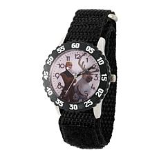 Disney Frozen 2 Kristoff Kids' Black Bezel Watch w/ Black Nylon Strap
