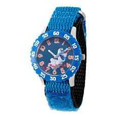 Disney Frozen 2 Olaf Kids' Blue Bezel Watch with Blue Nylon Strap