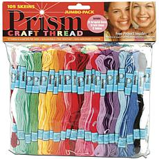 DMC Prism Craft Thread Jumbo Pack 9.9yd 105/Pkg - Assorted Colors