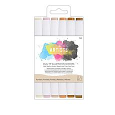 docrafts Dual Tip Markers 6-pack - Portrait