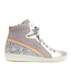 Dolce Vita Natty Suede and Leather Lace-Up High-Top Sneaker