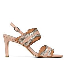 Donald J. Pliner Kit Leather Laser Fringe Heeled Sandal
