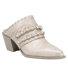 Donald J. Pliner Rierie Leather Western-Style Mule