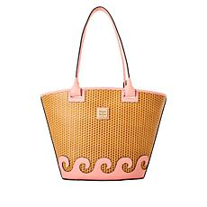 Dooney & Bourke Beacon Woven Atlantic Leather Tote
