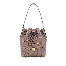 Dooney & Bourke Croco-Embossed Hattie Leather Drawstring Bag