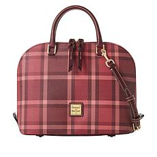 Dooney & Bourke Graham Zip Zip Plaid Satchel