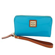 Dooney & Bourke Patent Leather Zip-Around Phone Wallet