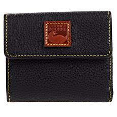Dooney & Bourke Pebble Leather Small Flap Wallet