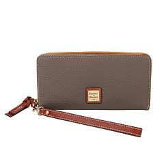 Dooney & Bourke Pebble Leather Zip-Around Phone Wallet