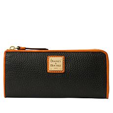 Dooney & Bourke Pebble Leather Zip Clutch