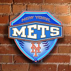 Dual-Lit Neon Wall Lamp - New York Mets - MLB