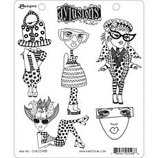 Dyan Reaveley's Dylusions Cling Stamp Collections 8.5X7 - Mini Me