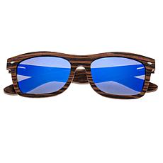 Earth Wood Maya Polarized Sunglasses Blue Lens