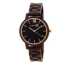 Earth Wood Pike Black Dial Dark Brown Wood Watch
