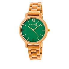 Earth Wood Pike Green Dial Khaki Wood Bracelet Watch