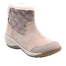 easy spirit Iwander Suede Quilted Bootie