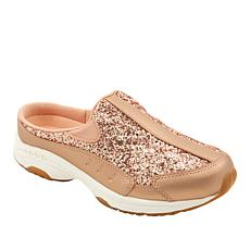 easy spirit Traveltime Leather Glitter Clog