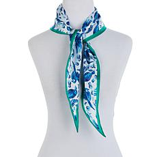 Echo Flying Around Silk Diamond Scarf