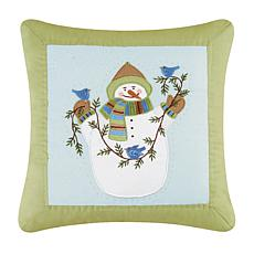 Eco Ernie & Garland Embroidered Pillow