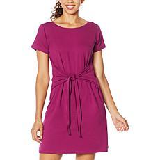 """Eden & Ivy """"Hazel"""" Short-Sleeve Tie-Front  Dress"""