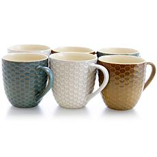 Elama Honey Bee 6-piece 15 oz. Mug Set - Assorted Colors