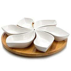 "Elama Signature 13-1/2"" 7-piece Lazy Susan Serveware Set"